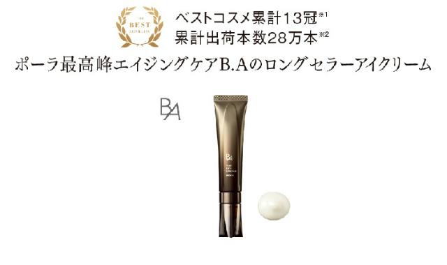 pola BA ザアイクリーム 受賞歴