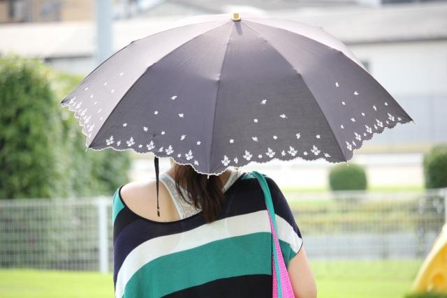 晴れた日は日傘も忘れない