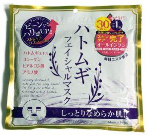 プレスカワジャパンハトムギフェイシャルマスク 30枚+1枚